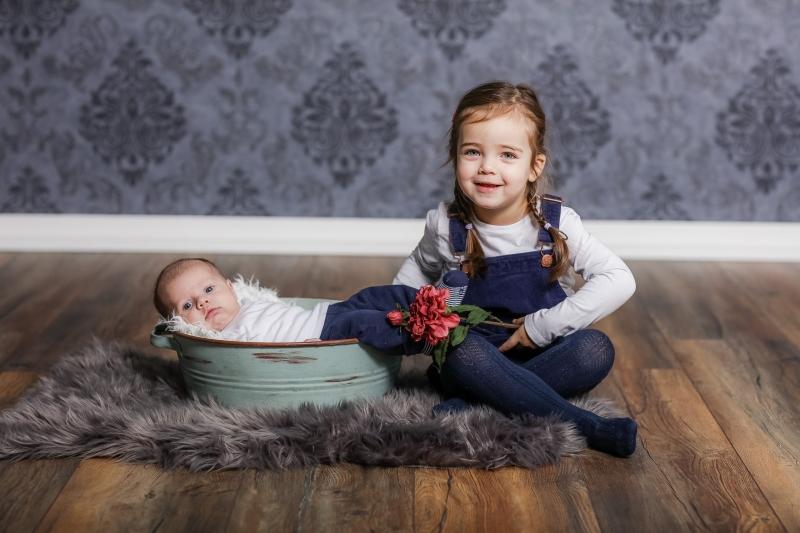 Geschwisterfotos, Kinderfotos Newborn Babybilder Babyfotos Stockach Fotografin
